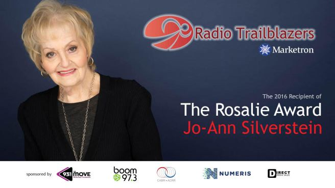 The 2016 Recipient of the Rosalie Award is Jo-Ann Silverstein
